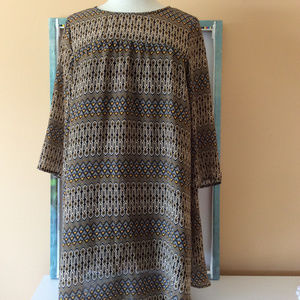 H & M patterned dress size 10